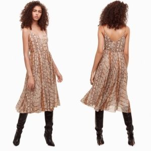 Aritzia Wilfred Beaune Dress in Snake Print